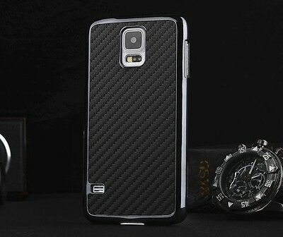 Luxury Ultra Thin Carbon Fiber Hard Back Case Cover For Samsung Galaxy S5 I9600