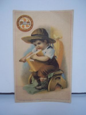 Vintage Advertising Trade Card Ceresota Flour Boy