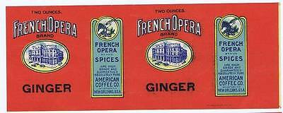 French Opera ginger, can label, American Coffee Co., New Orleans