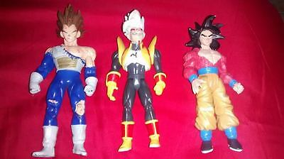 3 Dragonball Z Dragon Ball Z Action Figure Lot T.A. Fun Jakks 6 inch