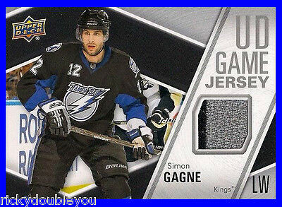 2011-12 Upper Deck Series 1 Simon Gagne Game Jersey 2 Color !