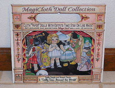 """Magicloth Dolly Dingle Magnetic Paper Doll """"Dolly Goes Around the World"""" New"""