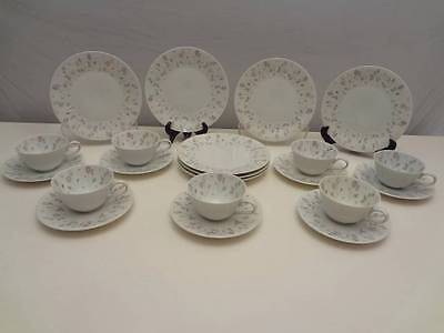 VINTAGE H&CO. 24 pc HEINRICH CHINA Selb Bavaria CUPS~SAUCERS~SALAD PLATES
