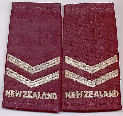 'NEW ZEALAND' Air Force RNZAF Epaulette 'Slip On' Corporal NCO RANK & Nation ID