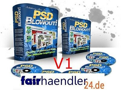 PSD BLOWOUT! V1 Webseiten Homepages WEBSITES MINI-SITES BANNER 500MB MASTER MRR