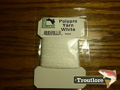 Hareline Dubbin Polypropylene Poly Yarn White - New Fly Tying Materials