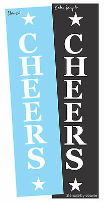 Designs by Joanie Stencil Happy Hour Cheers Stars Country Man Cave Bar Signs