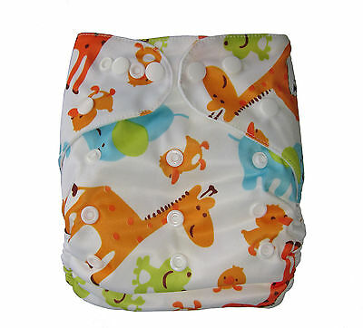 Modern Reusable Washable Baby Cloth Nappy Cloth Diaper Insert Cute Animals frog