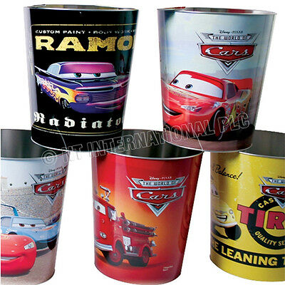 Pixar Car Kids Rubbish Bin Waste Paper Dust Toy Tidy Storage Bedroom Boys Gift