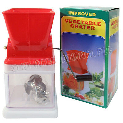 Vegetable Grater Cutter Fruit Salad Veg Kitchen Cheese Blade Stainless Steel New