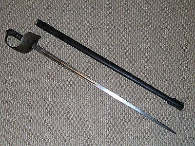 Antique Dated 1902 Wilkinson British Infantry Officer's 1897 Sword with Scabbard