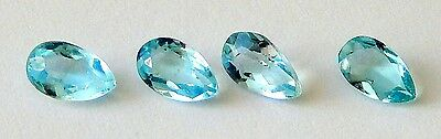 Aquamarine Pear Shaped faceted Stones 5x3 mm   1 Pc.  Excellent Color