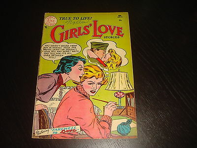 GIRLS' LOVE STORIES #21 Golden Age Young Romance DC Comics 1953 FN+