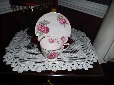 TUSCAN BONE CHINA TEA CUP AND SAUCER ROSES PINK ON PINK LOVELY