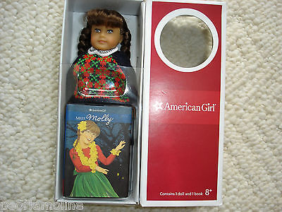 American Girl Molly MacIntire Mini Doll & Book NEW 6 Inch with glasses, RETIRED