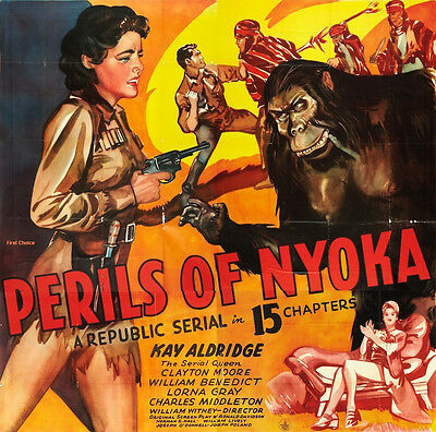Perils of Nyoka  - Cliffhanger Serial Movie DVD Clayton Moore Kay Aldridge