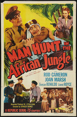 Manhunt in the African Jungle - Cliffhanger Serial  Movie DVD Rod Cameron