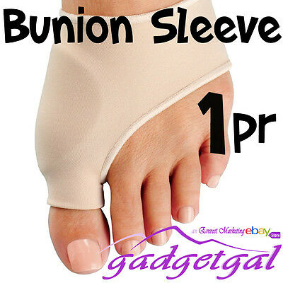 2 Bunion Sleeves Silicone Gel Protector Pads, Pain Relief for Calluses, Bunions