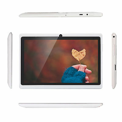 """Quad Core 7"""" Tablet MID 8GB A33 Google Android 4.4 Capacitive WiFi Dual Camera"""