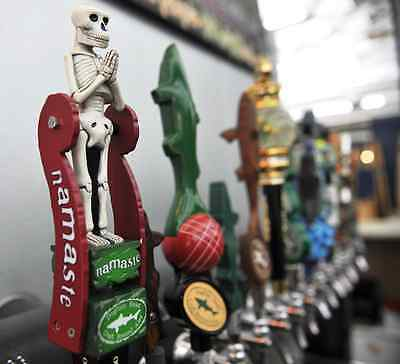 2013 Dogfish Head Brewery Namaste Skeleton Beer Tap Handle Rare New