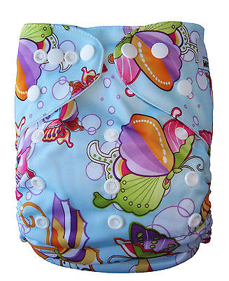 Modern Reusable Washable Baby Cloth Nappy Nappies & Insert, Butterfly