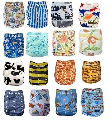 New Reusable Nappies For Baby Babies Newborn Cloth Nappy Diapers Adjustable