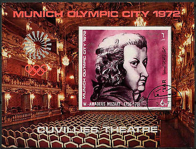 Yemen 1972 Olympic Games, Mozart Cto Used M/S #A84006