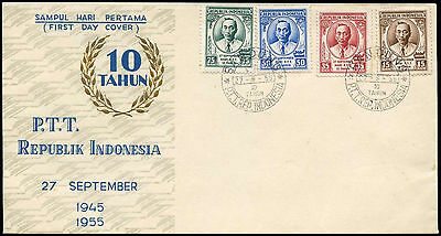 Indonesia 1955 Post Office, Postmasters Sukarto FDC First Day Cover #C20981