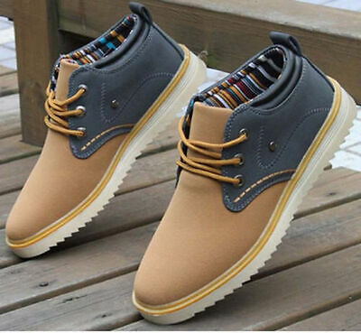 2014 New Fashion Men High-top Boots Suede casual Sneakers Ankle Boot Shoes US9.5