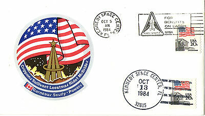 5 OCTOBER 1984 SPACE SHUTTLE STS 41G COVER KENNEDY SPACE CENTRE SHS (a)