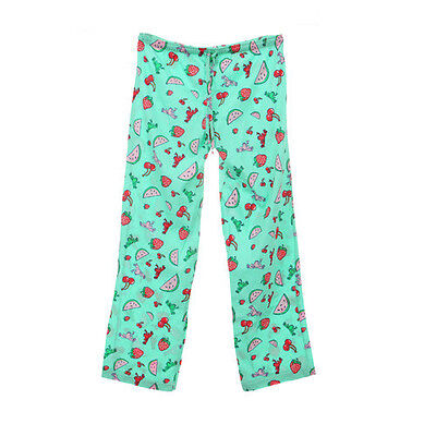 Peace Frogs Fruit Medium Adult Pj Bottoms