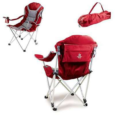 Reclining Camp Chair-Red (Houston Rockets) Digital Print Tailgate Reclining Camp