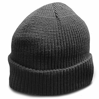 Heavyweight Ultra Warm Wool Military Army Commando Watch Cap Beanie Hat Black