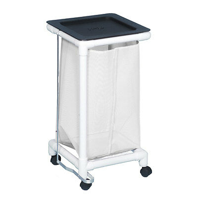Single Linen Hamper W/Foot Pedal Mesh White                     1 EA