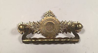 Six Antique Original Vintage brass pulls