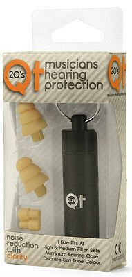 QT20's Musicians Hearing Protection Earplugs Concerts Practice Skin Colour