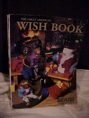 1992 Sears Great American Wish Book Christmas Catalog