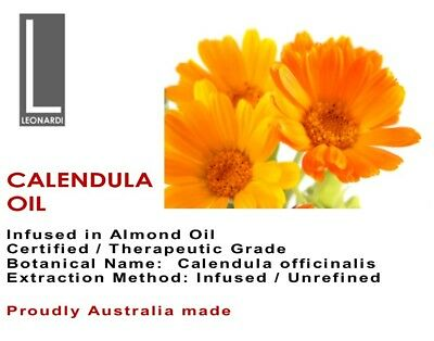 CALENDULA OIL 100% PURE CERTIFIED ORGANIC Therapeutic Grade 100ml