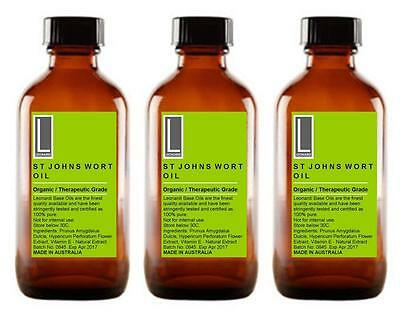 ST JOHNS WORT 100% PURE CERTIFIED ORGANIC OIL. Hypericum Perforatum. 100ml