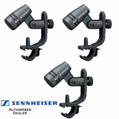 3 pack Sennheiser E604 cardioid Dynamic Drum Instrument Microphones