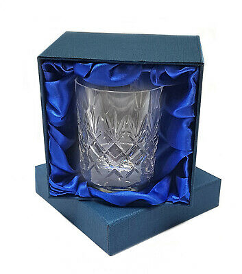 HAND CUT CRYSTAL WHISKY GLASS 28cl Mouth Blown Grosvenor Perfect Gift LUXURY BOX
