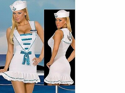 New Womens Ladies Sexy Deluxe Sailor Costume Hen Doo Fancy Dress Party  Outfit cfa50ca98fa7