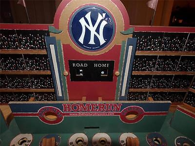 Old Century Baseball Pinball Game Wooden ConstructionTable Table  NY YANKEES