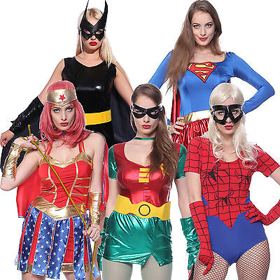 costume deguisement femme superman batman spiderman robin wonderwoman carnaval