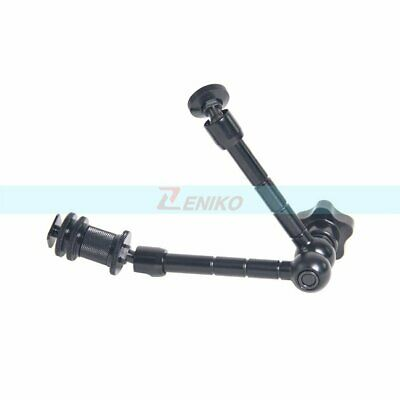 """11"""" Friction Articulating Magic Arm with 1/4""""Screw Hot Shoe for Camera LED Light"""