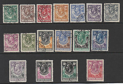 Northern Rhodesia 1925 Complete Set Sg 1-17 Fine Used.