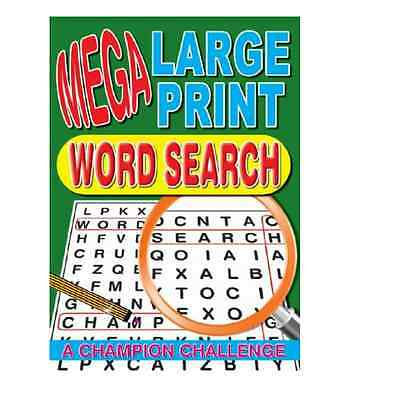 Mega Large Print Word Search Puzzle Book - 129 Puzzles - Book Series 4 (P2174)