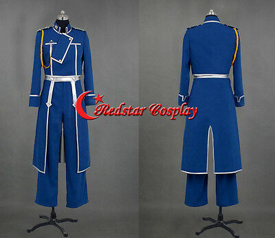 Fullmetal Alchemist Roy Mustang Cosplay Party Uniform Cosplay Costume