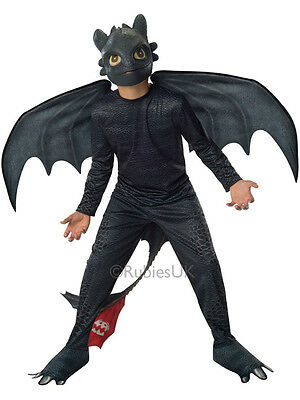 Child Dragon Toothless Night Fury Outfit Fancy Dress Costume Halloween Kids