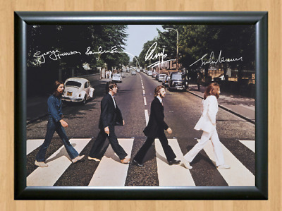 The Beatles Abbey Road John Lennon Paul Signed Autographed A4 Poster Print Photo